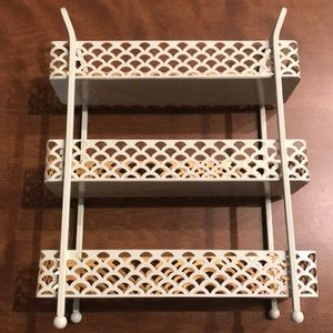 Small pastel and gold storage rack